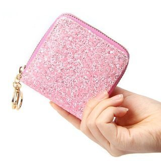 Short Wallet Clutch Purse Mini Cash Purse Bag Glitter Ladies Small Card Holders