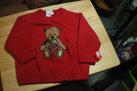 Little Boys Christmas Sweater 18 Mo.