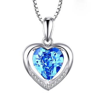 Heart shaped Gemstone Pendant for Women