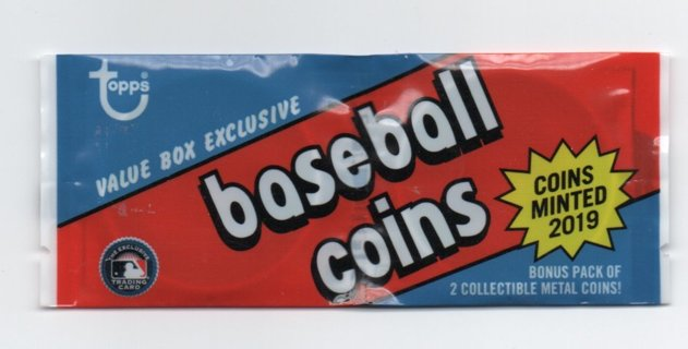 Sealed Pack Topps Baseball Coins 2019