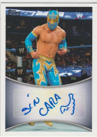 WWE Wrestling 2011 ~ SIN CARA Authentic Autograph !