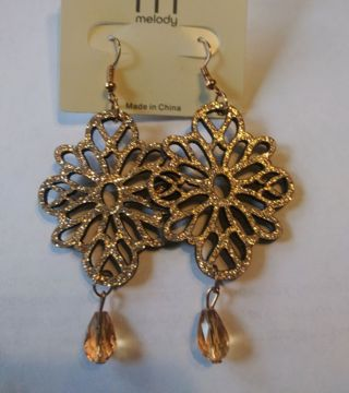 A pair of wooden earrings