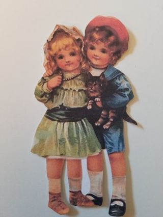 Vintage Children Cutout, #2810