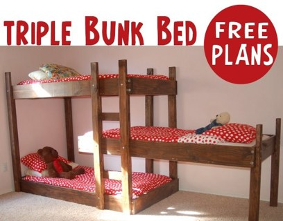 Free Diy Triple Bunk Bed Twin Size Dog Puppy Kitten Cat Beds Dog