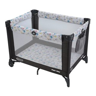 NEW Graco Pack and Play Portable Playard | Push Button Compact Fold, Carnival
