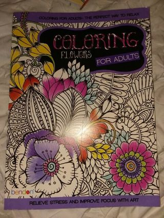 Coloring flowers Adult coloring book