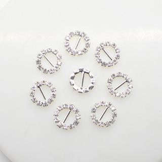 10Pcs/Lot 10mm Round Diamond Wedding Ribbon Decoration Wedding Banguet Dinner