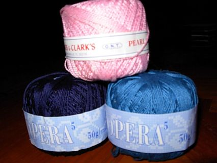 Free 2 Full Balls Of Opera Size 5 Crochet Thread And 1 Full Small