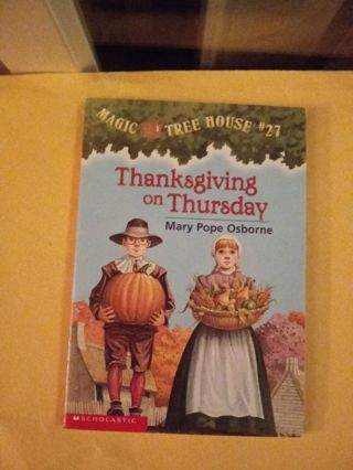 Magic Tree House Book Thanksgiving on Thursday