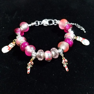 Candycanes, Euro bracelet, Creations by Cris