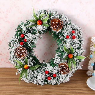Christmas Wreath Decor For Xmas Party Door Wall Hanging Garland Ornament