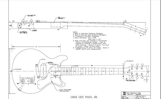 free les paul jr double cut style guitar templates instruments
