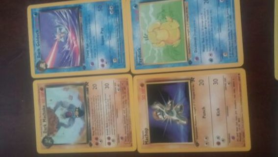 Pokemon cards lot of 1st edition team rocket evolutions