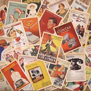 32Pcs Vintage Postcards Set Lot European American Photo Poster Retro Cards