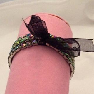 Black Ribbon Bracelet