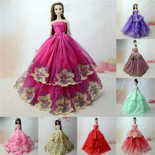 Toys Clothes Wedding Lace Long Dress Outfit For Doll Dress Gift Accessories