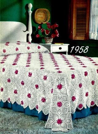 Free Rose And Pineapple Bedspread Crochet Pattern 723066 Crochet