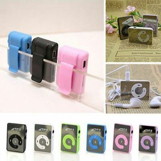 Mini 6 Colors Mirror Clip USB Digital Mp3 Music Player Support 8GB SD TF Card