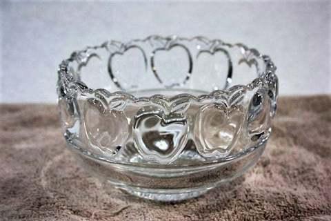 Tiffany & Co Crystal Apple Bowl