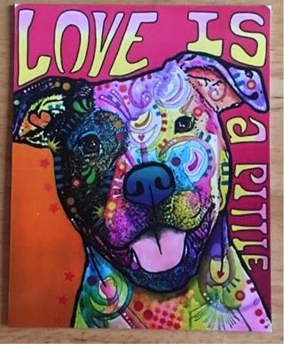 "LOVE IS A PITTIE - 3 x 4"" MAGNET"