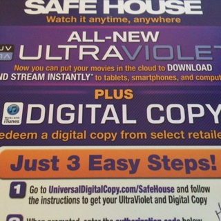 Free: iTunes Safe House ITunes digital movie code USA redeem - Other