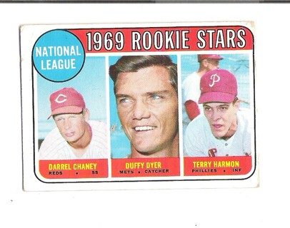 Darrel Cheney/Duffy Dyer/Terry Harmon 1969 Topps Rookie card