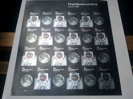 DON'S DAILY DEAL. 24 NEW FOREVER STAMPS..FULL SHEET OF FIRST MOON LANDING. 13.20.VALUE