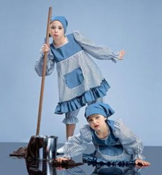 Cleaning lady dance costume