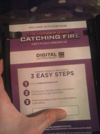 CATCHING FIRE Digital Copy Ultraviolet