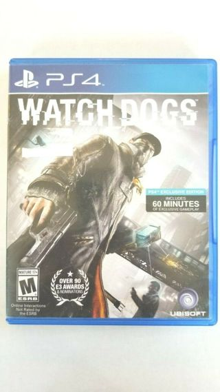 used-ps4-game-watchdogs-ex-free shipping