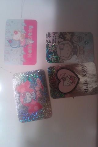 4 hello kitty stickers
