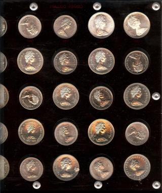 Run of 25 Canada Prooflike Silver Dollars (13 Silver, 12 Steel) ASW = 5.3 troy ozs.