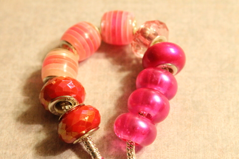 >>PRETTY IN PINK<<Pandora/Euro Style Charms Lot>>(10)Charms<<FREE SHIPPING!!
