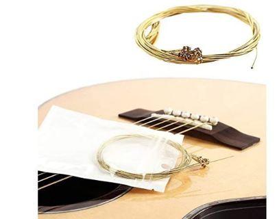 CALIDAKA Acoustic Guitar Strings Bulk Light Tension 6 Guitar Strings Replacement
