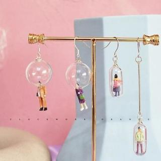 Funny Handmade Cute Capsules Colorful Humanoid Fun Drop Earrings Female Creative Personality Candy