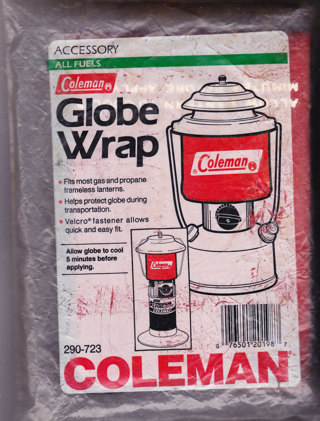 Free: COLEMAN LANTERN GLOBE WRAP (NEVER USED) - Camping & Hunting