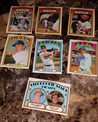 Free Lot Of 7 Old Baseball Cards Tcg Sports Trading Cards