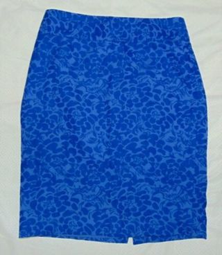NWOT Sexy pencil Skirt LOFT Womens Size 4 Beautiful Blue