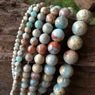 Natural Shoushan Larderite Stone Beads