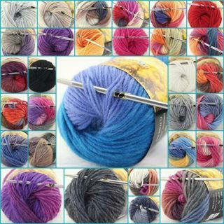 1 Skeins x 50g NEW Chunky Hand-Woven Colors Knitting Scores Wool Yarn