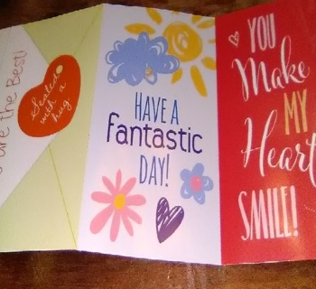 3 Valentine Cards -From St. Joseph`s Indian School