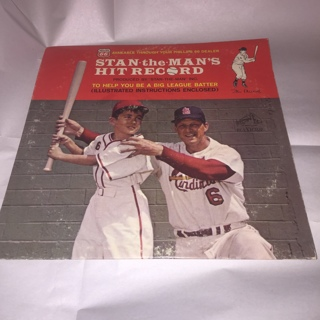 Vintage Phillips 66 Stan Musial LP Stan The Man's Hit Record 1963 MLB St. Louis Cardinals
