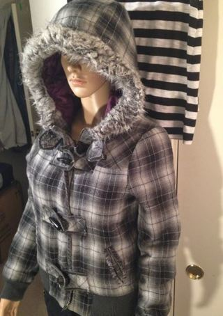 1 empyre jacket hoodie faux fur hood sweatshirt FREE SHIPPING