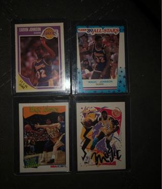 Magic Johnson 4 Card Lot