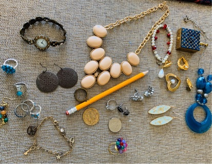 Random Jewelry including A Silver CZ? Ring GROWING AUCTION