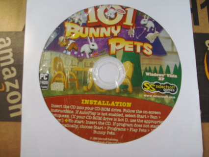 2 CD rom games, 101 Bunny pets and 101 Puppy Pets