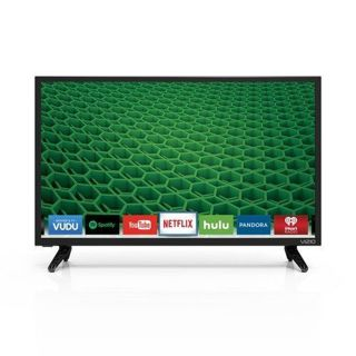 "Vizio D-Series 24"" Edge-Lit LED Smart TV Slim Flat Wall"