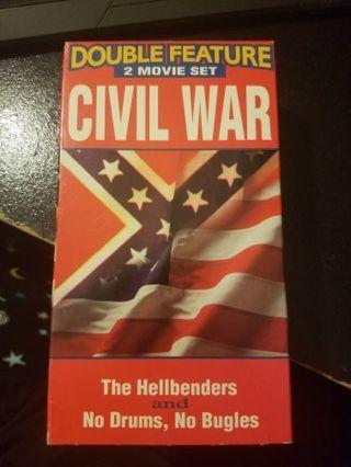 Civil War Double Feature 2 VHS Movie Set