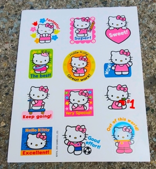 HELLO KITTY STICKERS AND ACTIVITY SHEETS LOT 1