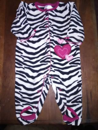 NWOT Infant Girls Footed Sleeper
